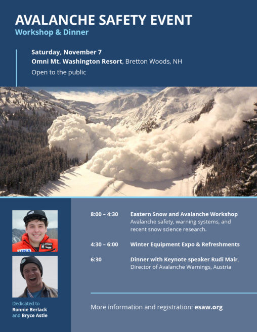 Avalanche Safety Event Poster